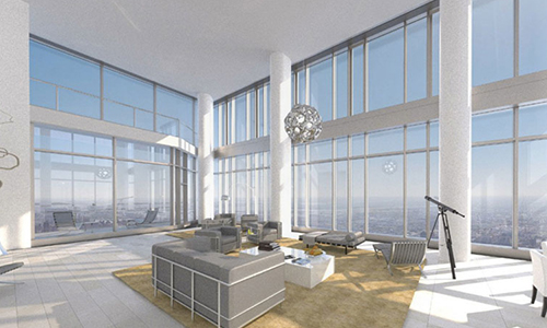 Central Park Tower-Living-Room