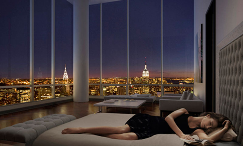 ONE57-tower-new-york-Bedroom